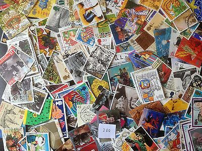 200 Different Great Britain Commemoratives 1990-1999 Stamp Collection