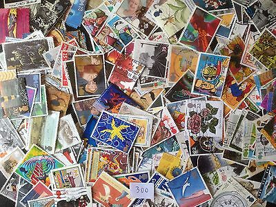 300 Different Great Britain Commemoratives 1990-1999 Stamp Collection