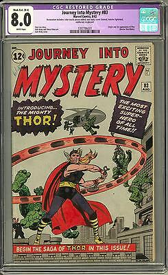 Journey Into Mystery #83 CGC 8.0 (W) Origin & 1st Appearance of Thor
