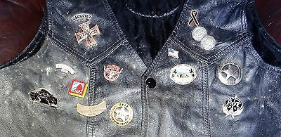 Leather Vest MotorCycle with Rare Patches