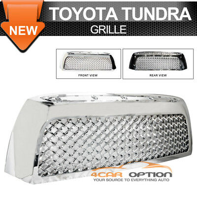 Fits 07-09 Toyota Tundra Chrome Mesh Grill Grille
