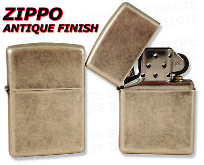 Zippo Lighters ANTIQUE SILVER PLATE Lighter 121FB *NEW*