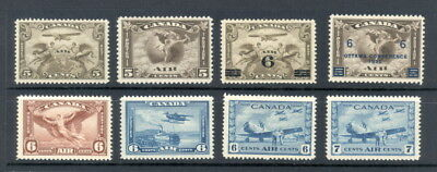 Canada C1 to C8 - mh air mail stamps