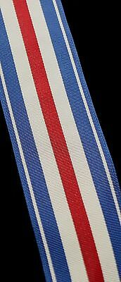 """US Silver Star, Full Size Ribbon (1 3/8"""" Wide), 12 Inch Length"""