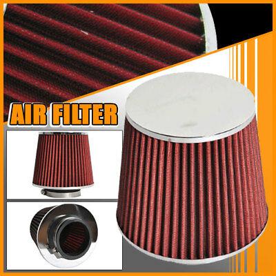 Fits 02-11 Mitsubishi Lancer Red Color 3 Inch PERFORMANCE Air Intake Filter