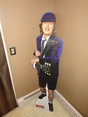 Angus Young AC/DC Rare Authentic Hand Signed Stand Up Prop Display Photo PROOF