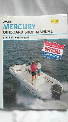 Mercury Outboard Shop Manual 3 to 275hp 1990 to 1993