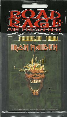 IRON MAIDEN head 2002 AIR FRESHENER official merchandise SEALED usa IMPORT
