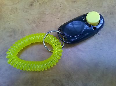 Dog Training Clicker With Wrist Strap (Brand New) Black