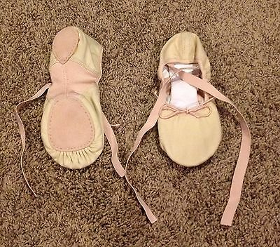 WOMEN'S Size 6 Pink Canvas Split Sole BALLET SLIPPERS BRAND NEW !!