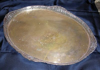 "Lazarus Posen 800 Silver Massive Serving Tray - 23 5/8"" - 2185 Grams - B.offer"