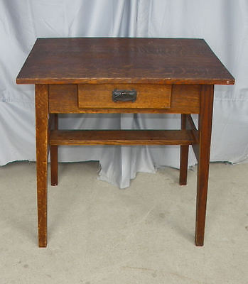 Antique Mission Oak Desk with single drawer - Arts and crafts style
