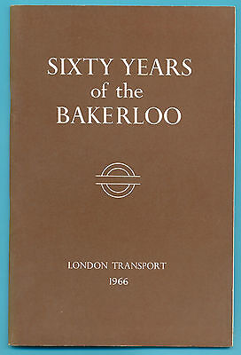 Sixty Years Of The Bakerloo.london Transport 24 Page Book Published 1966.