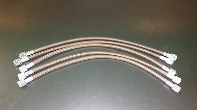 """New Lot of (5) Lefthander Stainless Steel Braided -4an Brake Lines 120-16 16"""""""