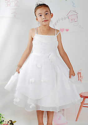 New White Party Pageant Flower Girl Dress 5-6 Years