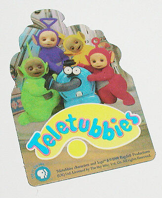 Rare 1999 Pbs Television Promotional Teletubbies Full Color Refrigerator Magnet