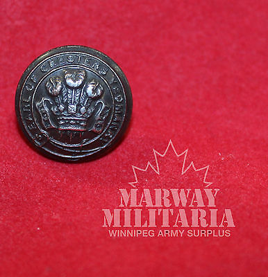 Earl of Cheshire Yeomanry Silver metal OFFICER'S  Uniform BUTTON  (inv 7765)