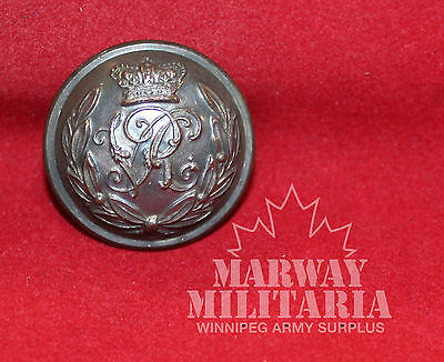 V R C, Victorian Silver metal OFFICER'S Uniform BUTTON  (inv 7766)