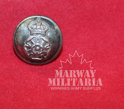 Queens Own Yorkshire Dragoons Silver metal OFFICER'S  Uniform BUTTON (inv 7764)
