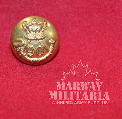 Pre WW1, 90th Foot, Perthshire Volunteers OFFICER'S  Uniform BUTTON (inv 7751)