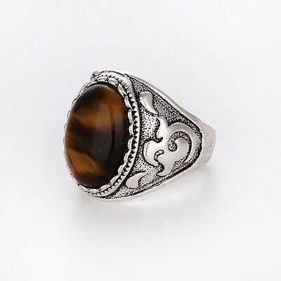 Silver tigers eye RING Men/Women Band Unique Fashion Jewelry FREE SHIPPING