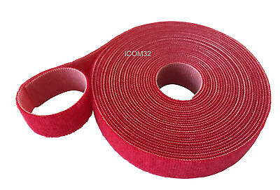 VELCRO® Brand ONE-WRAP® back to back Strapping cable ties 2CM Wide in RED