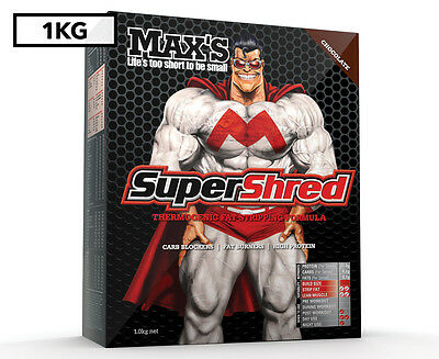 Max's SuperShred Protein Powder Chocolate 1kg