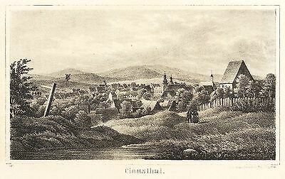 CLAUSTHAL (CLAUSTHAL-ZELLERFELD) - Gesamtansicht - Sydow - Lithografie 1842