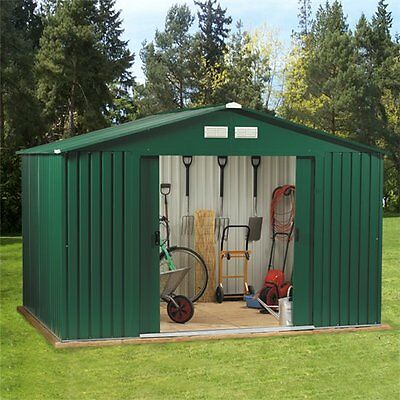 Metal Garden Shed 10 x 12 Outdoor Storage 10x12 with Free Foundation 10ft x 12ft