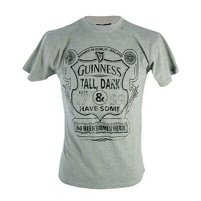 T-Shirt uomo Guinness Mens Grey Tall Dark Have Some *03424