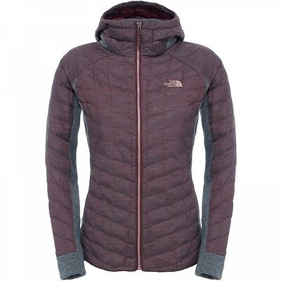 The North Face Damen Thermoball Gordon Lyons Fleece Hoodie Garnet Grey Heather