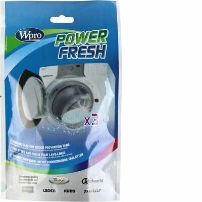 Power Fresh Washing Machine Washer Cleaner Odour Mould Mildew Affresh 3 Tablets