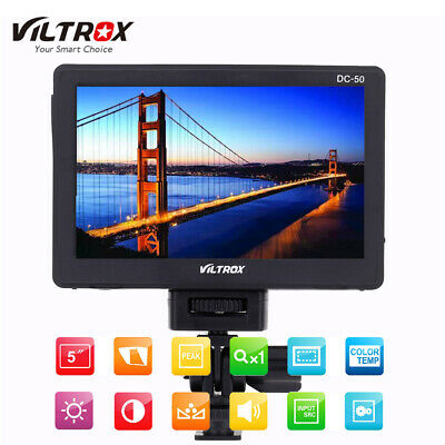"VILTROX DC-50 5""LCD HD Video Monitor HDMI AV WideAngle for DSLR Camera Camcorder"