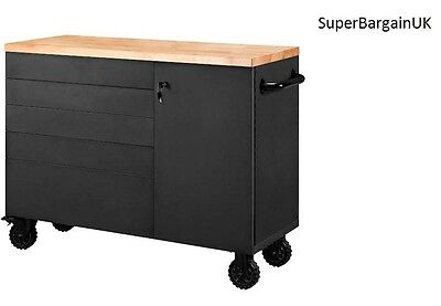 """48"""" Tool Chest Heavy Duty Mobile mechanic Work bench wooden top  Brand new Boxed"""