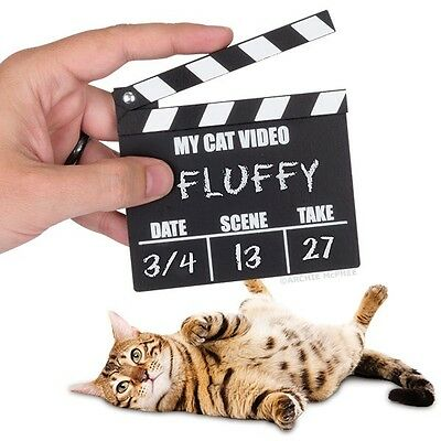 Crazy Cat Lady Mini Cat Video Clapperboard