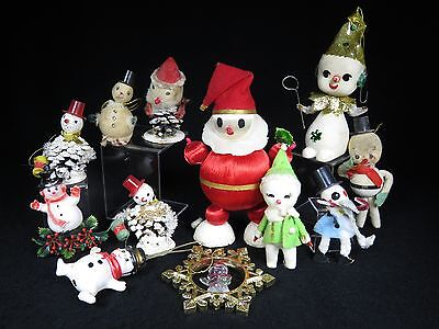 VINTAGE FROSTY the SNOWMAN CHRISTMAS DECORATION & ORNAMENTS GROUP of 12