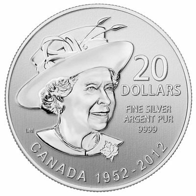 2012 Canada $20 Fine Silver Coin - Queen's Jubilee Celebration