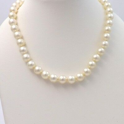 Vintage Mikimoto Akoya Pearl 6.5-7mm Graduated Necklace Silver with Appraisal