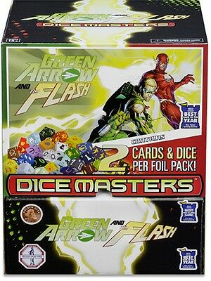DC Dice Masters - Green Arrow and the Flash Gravity Feed Display + Promo Card