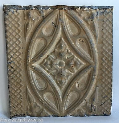 Antique Tin Ceiling Tile*SEE OUR SALVAGE VIDEOS* Vintage B40A Brown