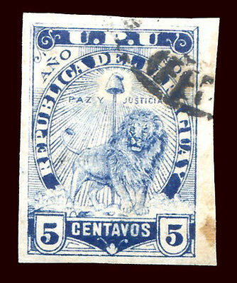 PARAGUAY Sc # 86 Imperforate VF