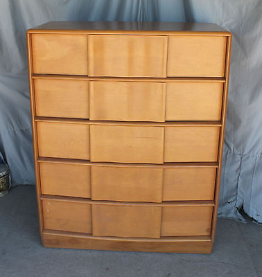 Heywood Wakefield Sculptura 5 drawer Chest – Champagne finish – Mid Century Mode