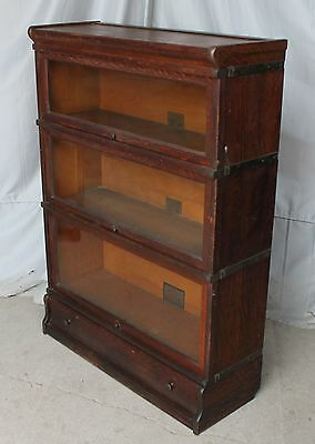 Antique Oak stacking 4 High Sectional Bookcase – Globe Wernicke Company -