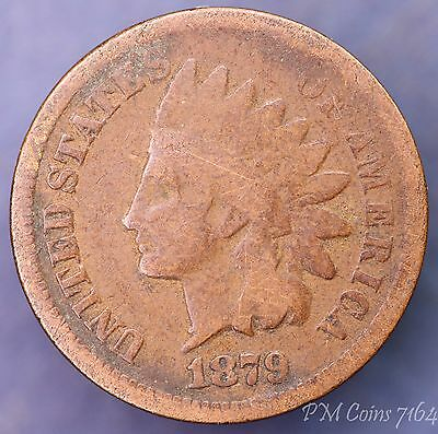 1879 US Indian Head One cent 1c coin [7164]