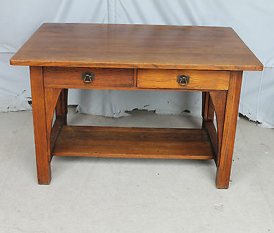 Antique Mission oak Library Table or Desk – Limbert - Arts & Crafts