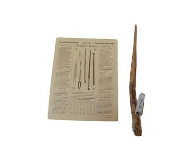 Authentic Natural Ash Wooden Powerful Magic Wand w Instructional Poster