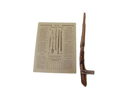 Authentic Natural Maple Wooden Powerful Magic Wand w Instructional Poster