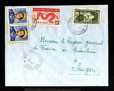 12869-VIETNAM-AIRMAIL COVER NMATRANG to SAIGON.1954.French colonies.