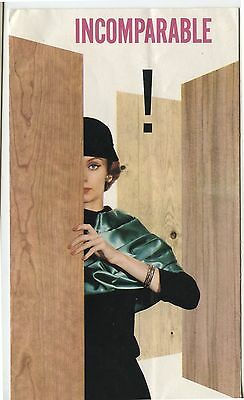 Old 1958 Brochure Woodgrain Sheetrock Canadian Gypsum