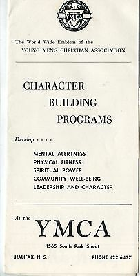 Old 1961-62 Brochure YMCA Character Building Programs Halifax NS
